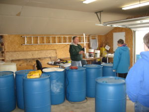 Instructor Rod Sternhagen introducing rain barrel makers to the process of making a rain barrel. Classes will be held at the WILD Center throughout the month of May.