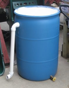 This is just one of many styles of rain barrels.