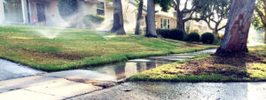 More water is used In the USA during July than in any other month. It is not uncommon for as much as half of the total water use of a home is for irrigating lawns and landscapes. And then consider that half of that water winds up evaporating or dribbling away. Photo from waterwise.com